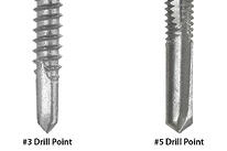 #3 and #5 drill points