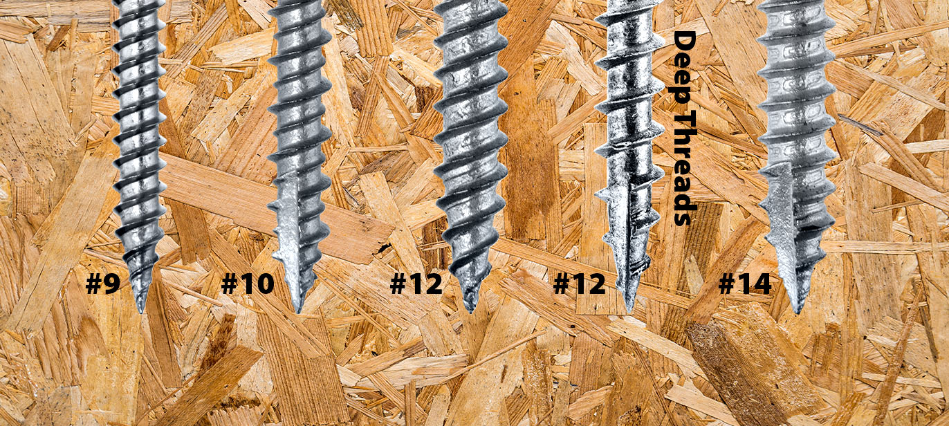 Particle board with screw comparisons